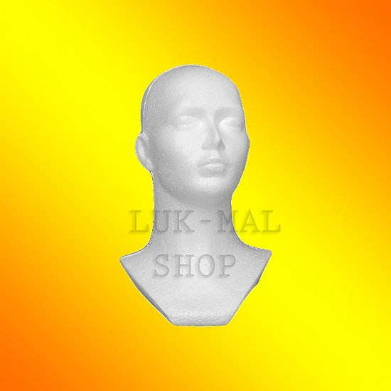 Kopf weiß Styropor
